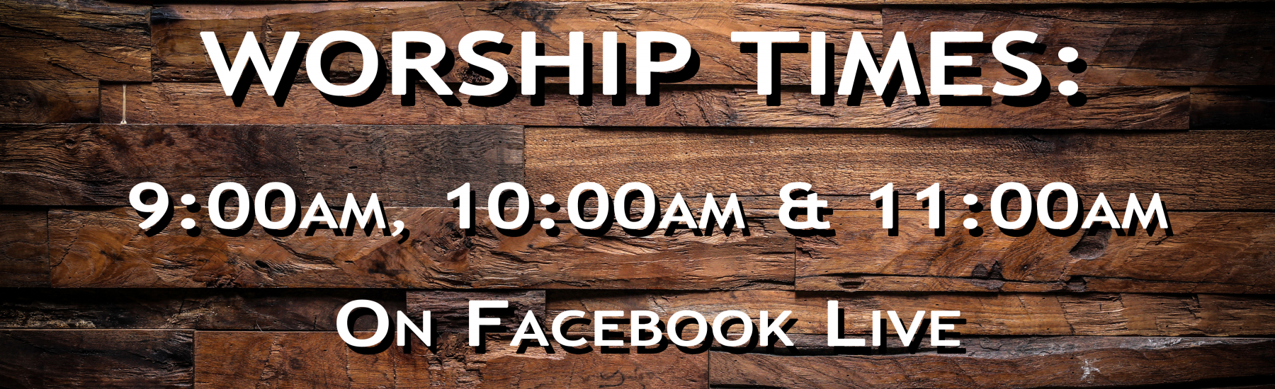 Sunday Online Worship Times: