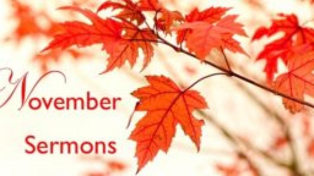 November Sermons 2017